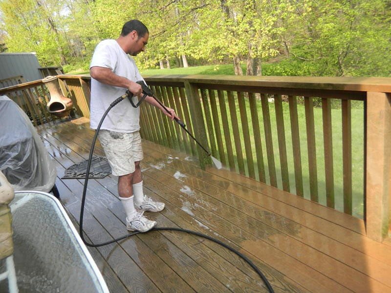 Pressure Washing Exterior Deck in Maplewood New Jersey | Flickr
